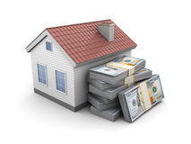 House with money Royalty Free Stock Image