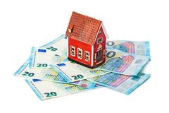House and money euro royalty free stock photo