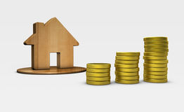 House And Money Icon Property Investment Concept Royalty Free Stock Photography