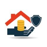 House money insurance concept design graphic. Illustration Stock Photography