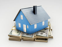 House on money Stock Photos