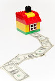 House and money road. Royalty Free Stock Photography