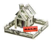 House of money and sign the sale Royalty Free Stock Image