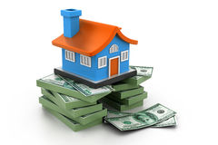 House on money stack Stock Photos