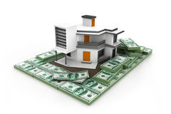House on money stack Royalty Free Stock Images