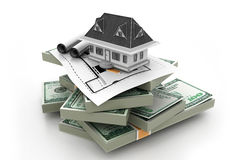House on money stack Stock Images