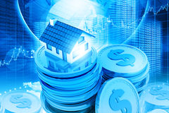 House on money stack Royalty Free Stock Image