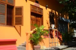 House of the monks in Cambodia. stock photos