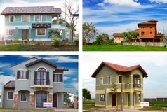 House montage Royalty Free Stock Photography