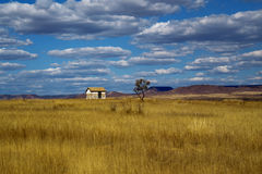 House on the moors on a cloudy. An  house on the moors on a cloudy Royalty Free Stock Photos