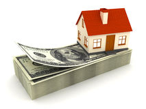 House Mortgage. This is a 3D rendered picture Stock Photos