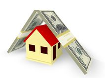 House Mortgage. Concept in 3D Stock Photography