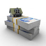 House Mortgage Lira royalty free stock images