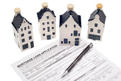 Mortgage loan for house stock photography