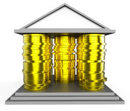 House Mortgage Represents Borrow Money And Building stock illustration
