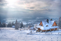House in the Mountain Royalty Free Stock Photography