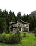 House. In mountain royalty free stock photography