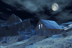 House in mountain Stock Images