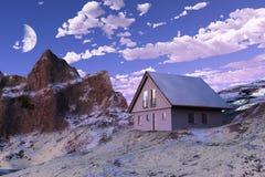 House in mountain Royalty Free Stock Photos