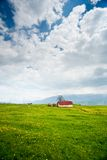 House in the mountain meadow Stock Photos
