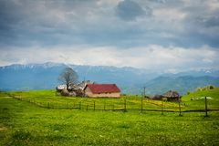 House in the mountain meadow Royalty Free Stock Photography