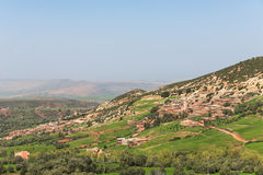 The house on the mountain in Morocco Royalty Free Stock Photography
