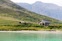 House on mountain in Norway Royalty Free Stock Photos