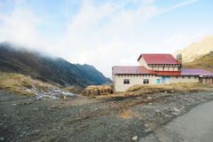 House on Mountain Peak Royalty Free Stock Image
