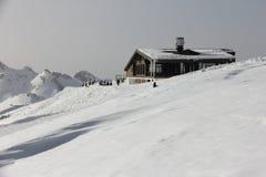 House in mountain ski resort Royalty Free Stock Photos