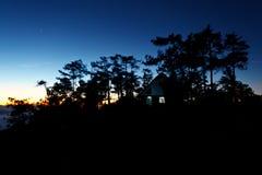 House on mountain at twilight Stock Photos