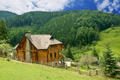 House in a mountains Royalty Free Stock Images