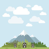 House in mountains Royalty Free Stock Photography