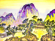 House in mountains Royalty Free Stock Photos
