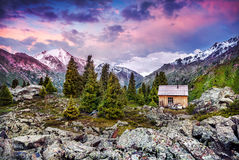 House in the mountains Royalty Free Stock Photo