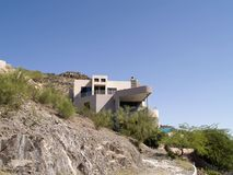 House in mountains Phoenix. Modern house on mountainside, Phoenix, Arizona, U.S.A Stock Images