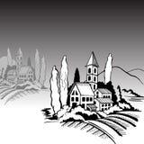 House mountains royalty free illustration