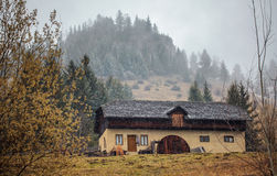 House by the mountains Royalty Free Stock Image