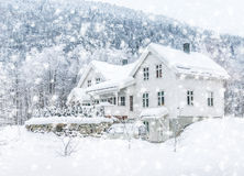 House in the mountains Stock Image