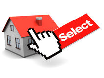 House and mouse cursor Stock Photography