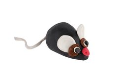 House mouse made of plasticine Stock Image