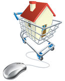 House mouse trolley concept Stock Images