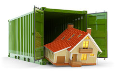 House move, home purchase, freight transportation and delivery concept Royalty Free Stock Images