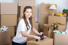 House Moving Stock Photo