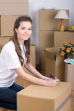 House Moving Stock Image