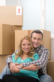 House moving. Stock Photo