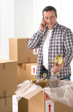 House moving. Stock Photos