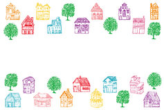 House‐moving greeting card. Royalty Free Stock Image