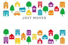 House moving greeting card. Stock Photography