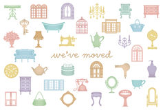 House moving greeting card. We've Just Moved. Stock Images