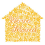 House moving greeting card. Stock Image